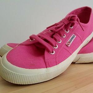 Superga Women's Shoes - Neon Pink, Size 8.5